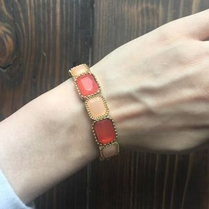 Icing Orange and Peach Gold Bracelet